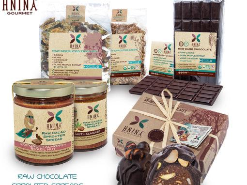 Hnina Chocolates Nuts Labels