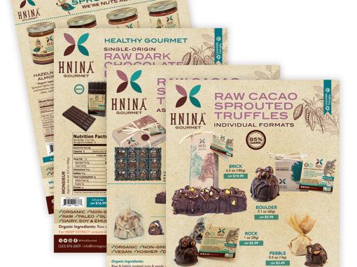 Hnina Chocolates Nuts Sell Sheets